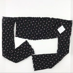 Out From Under Floral Smocked Bandeau Crop Top NWT